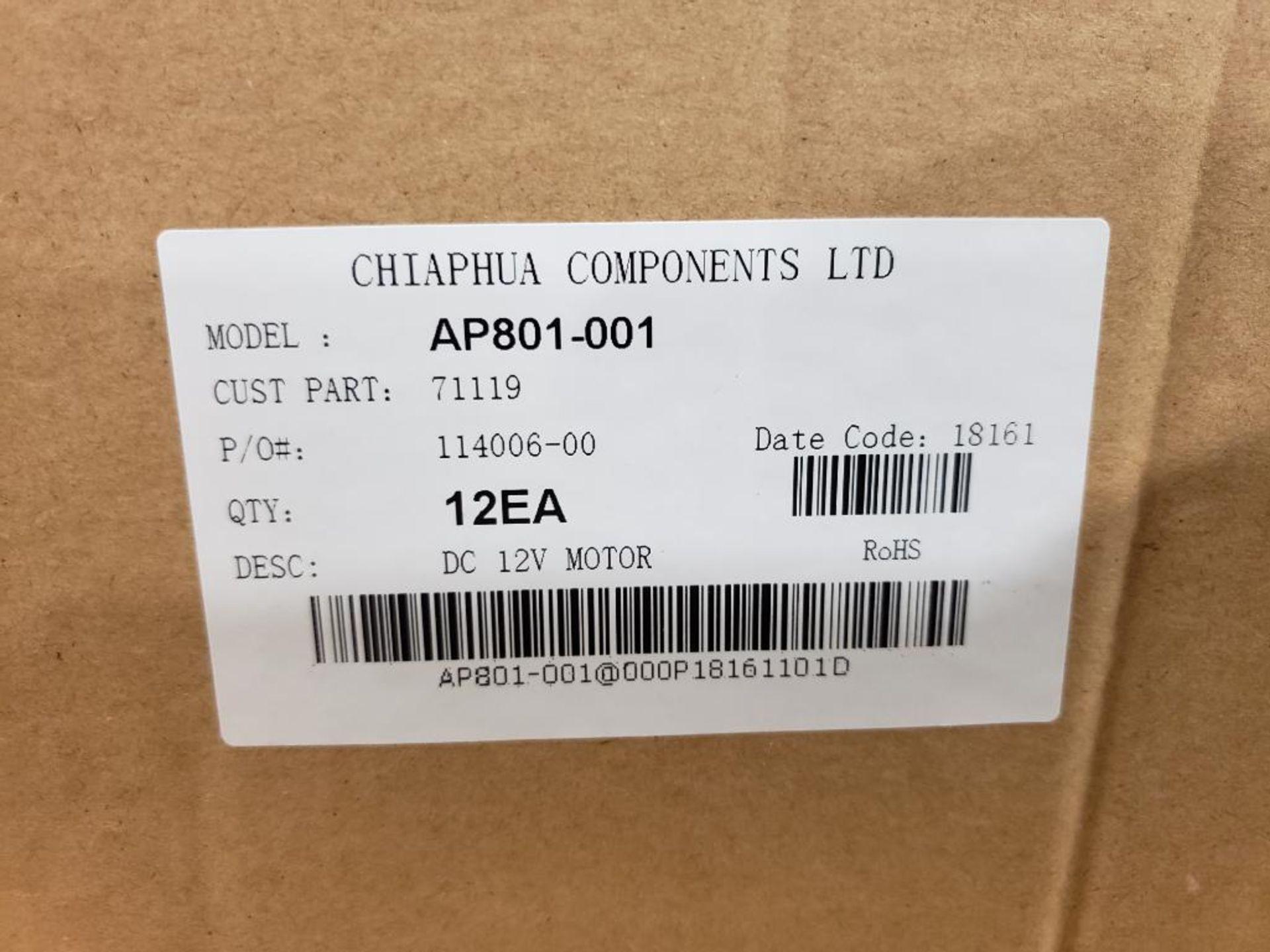 Qty 24 - Chiaphua Components LTD AP801-001. 71119 12VDC Motor. - Image 2 of 2