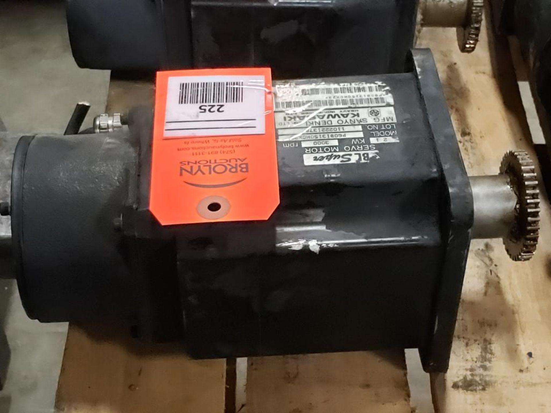 2.1kW Kawasaki Servo Motor P60B13150HCX23. 3000RPM.