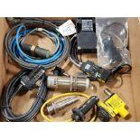 Assorted electrical sensors. Allen Bradley, Banner, Sick, Schmersal.