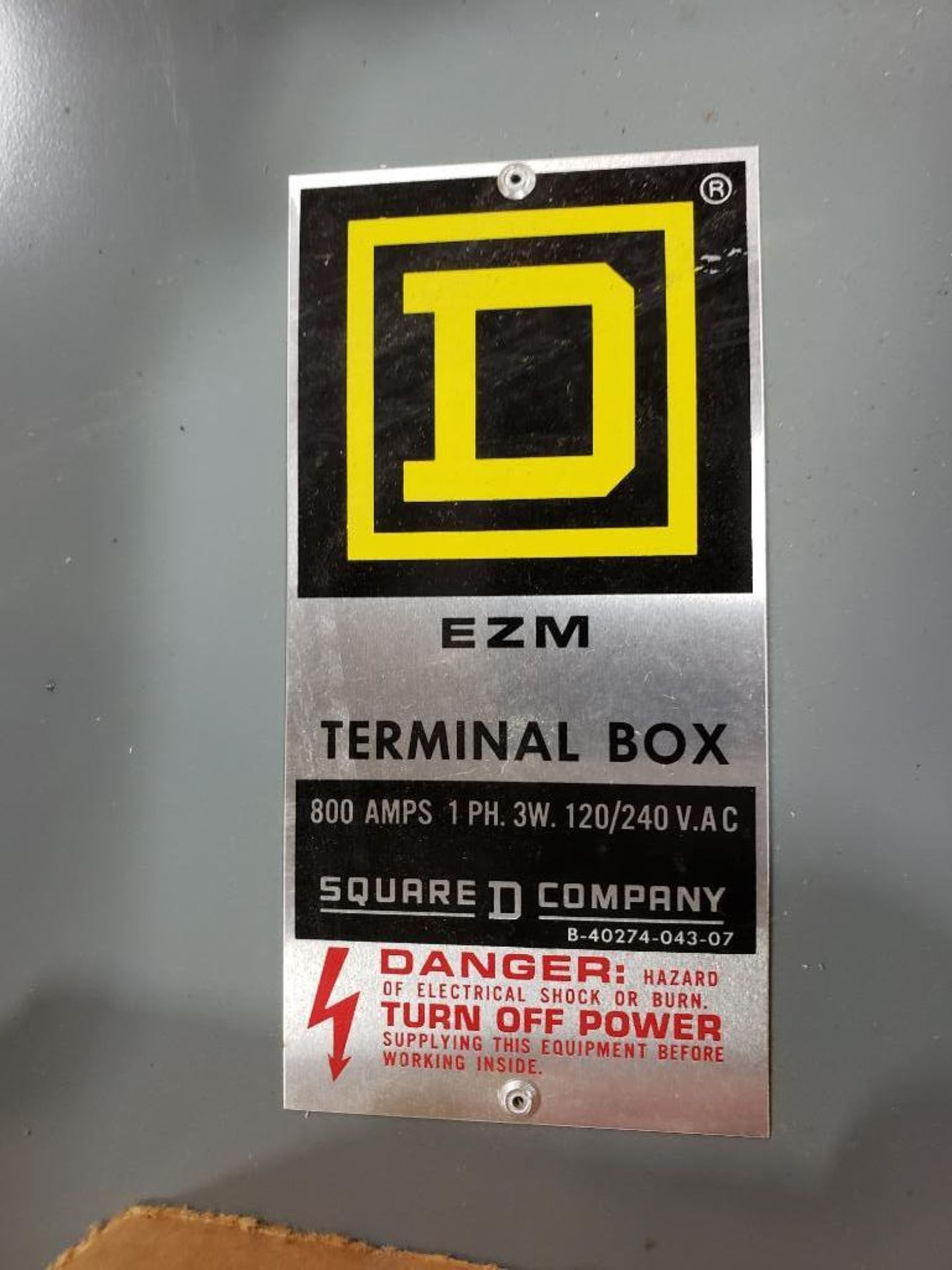 Square-D EZM Terminal Box EZM-3800TBR. New in Box. - Image 2 of 6