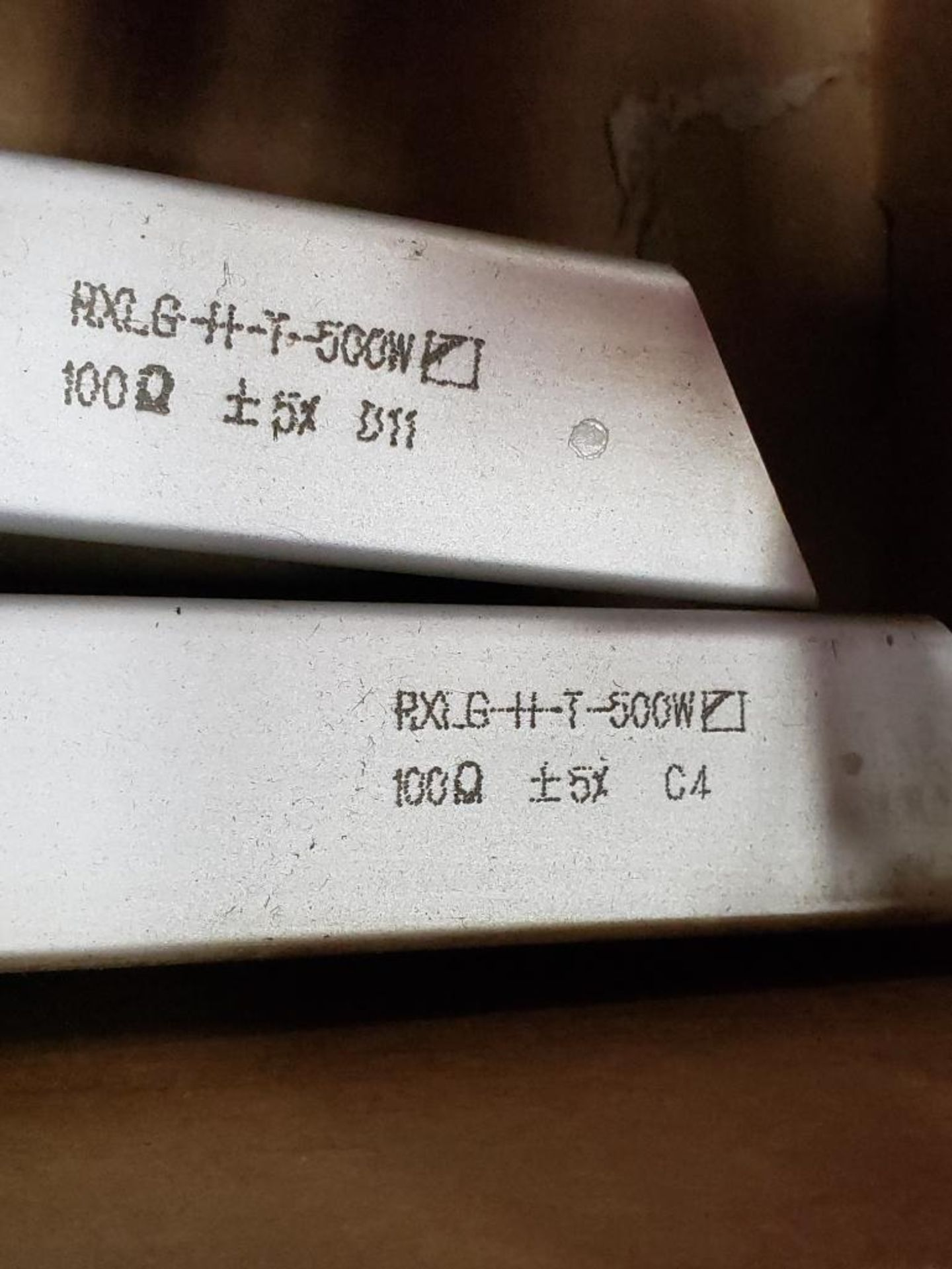 Qty 2 - Rara RXLG-H-T-500W resistor. E227820. - Image 3 of 3