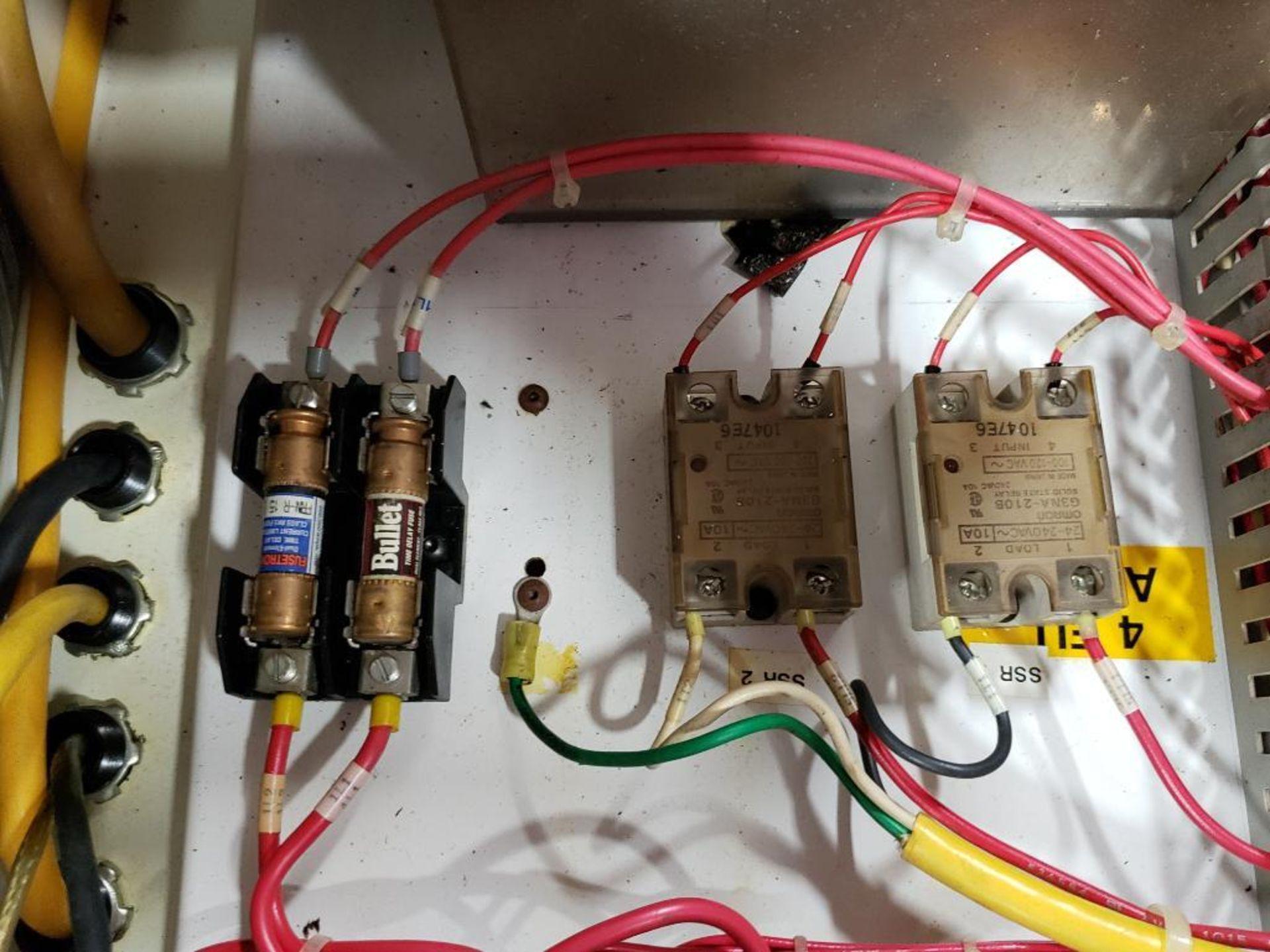 Chiller control cabinet. Hoffman enclosure, Cutler Hammer AF93AG0B007D drive, Allen Bradley drive. - Image 29 of 35