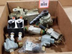 Assorted flow control valves. Ross, Parker, Clippard.