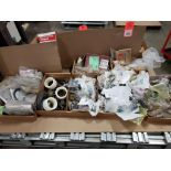 1/2 Pallet of assorted parts. Gears, pulleys, clamps, rings, chain links, sheeves.
