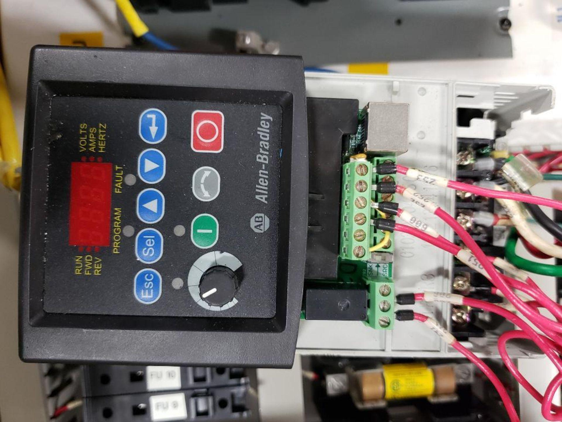 Chiller control cabinet. Hoffman enclosure, Cutler Hammer AF93AG0B007D drive, Allen Bradley drive. - Image 23 of 35