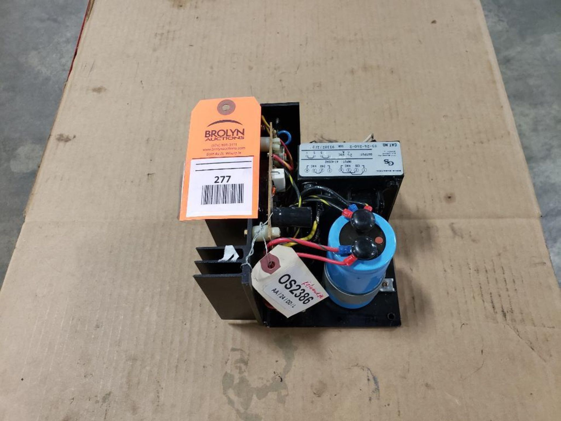 Sola Electric 83-24-260-2 Power supply.