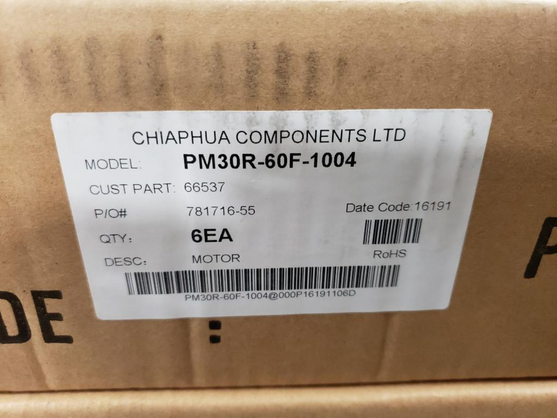 Qty 18 - Chiaphua components PM30R-60F-1004. Atwood Mobile 66537 12VDC Motors. New in box. - Image 2 of 5