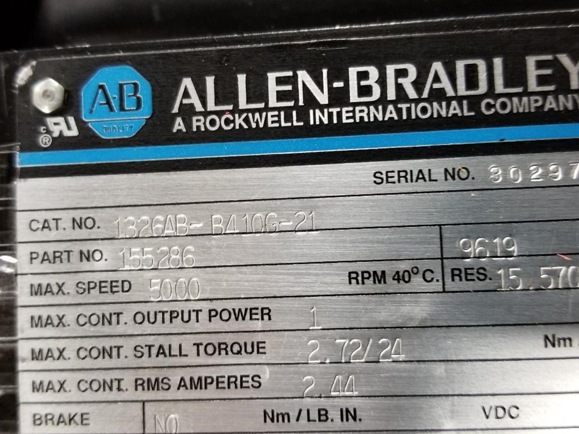 1kW Allen Bradley servo motor. Cat# 1326AB-B410G-21, Part# 155286, 5000RPM. - Image 3 of 6