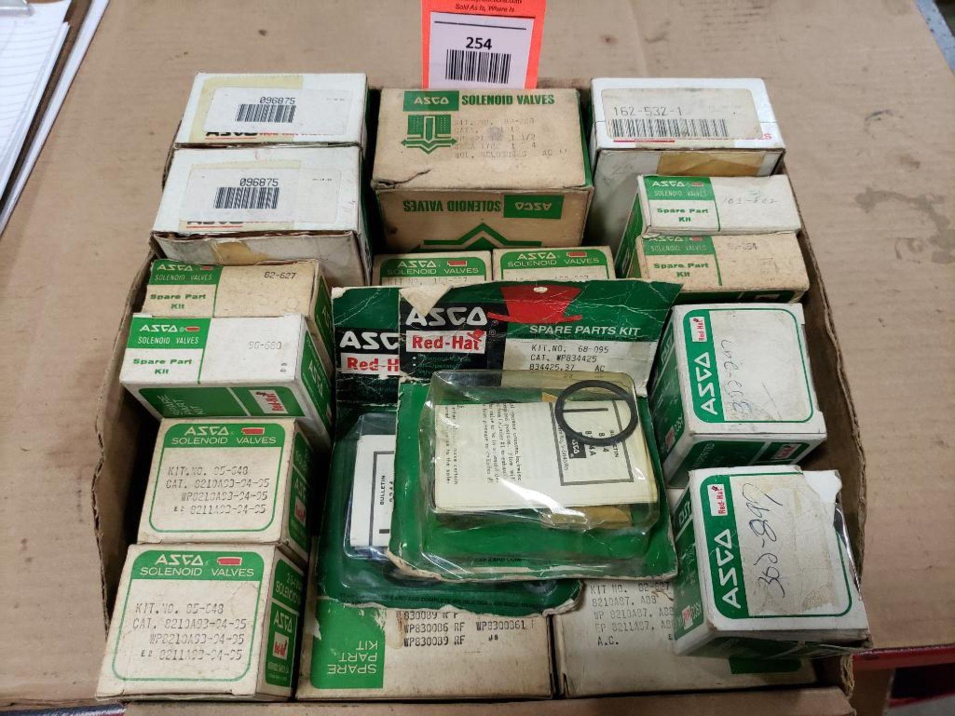 Assorted solenoid valves, and repair kits. Asco.