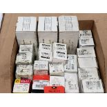 Assorted electrical relays. Hammond, ServiceFirst, White Rogers.