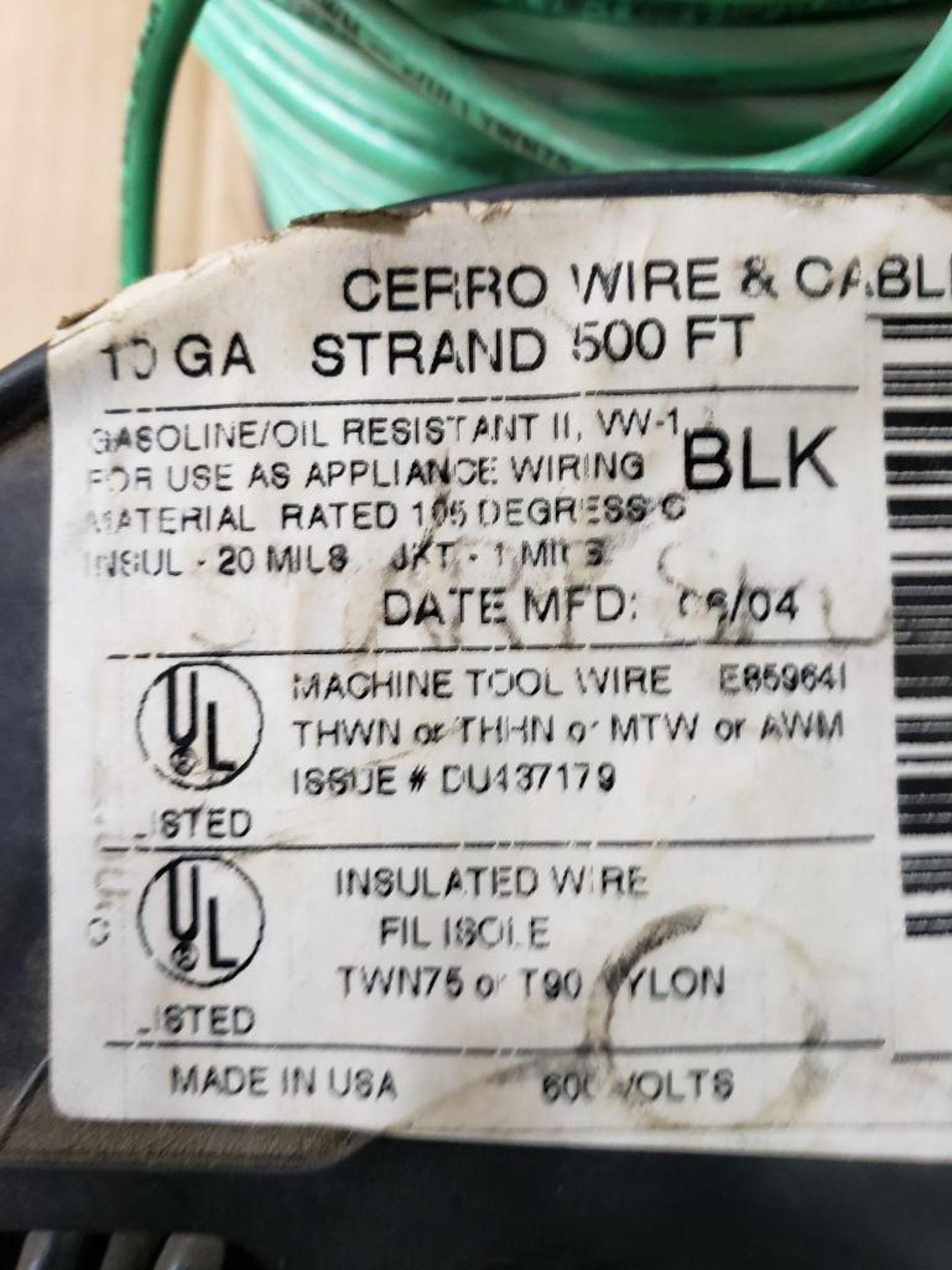 Qty 3 - Spool of CERRO contractor wire. 10GA-Black, 10GA-Green. - Image 3 of 5