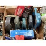 Assorted bearings, pillow block bearings. Browning, Fafnir, SealMaster.