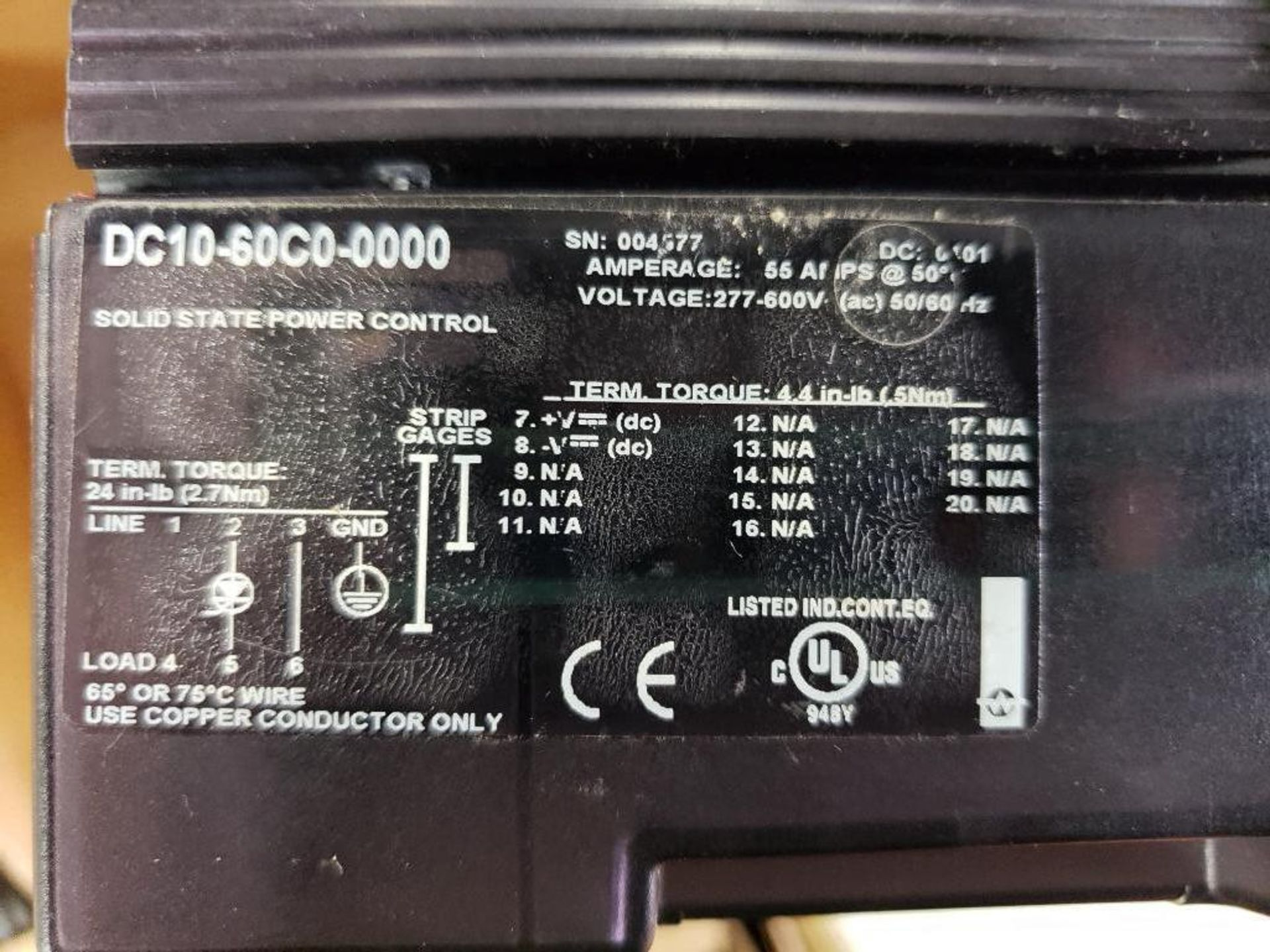 Qty 2 - Watlow DIN-A-Mite DC10-60C0-0000 power controller. - Image 5 of 5