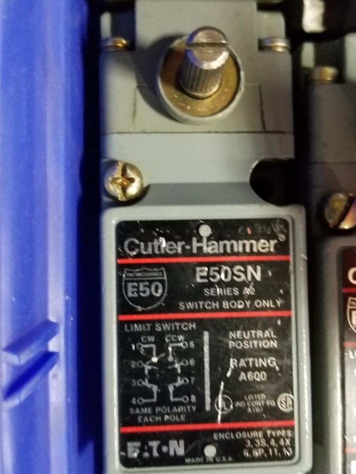 Assorted electrical limit switches. Numatrol, Cutler Hammer. - Image 4 of 8