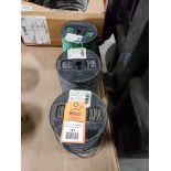 Qty 3 - Spool of CERRO contractor wire. 10GA-Black, 10GA-Green.