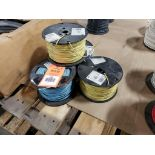 Qty 4 - Spool of contractor wire. 14-Yellow, 14-Blue.