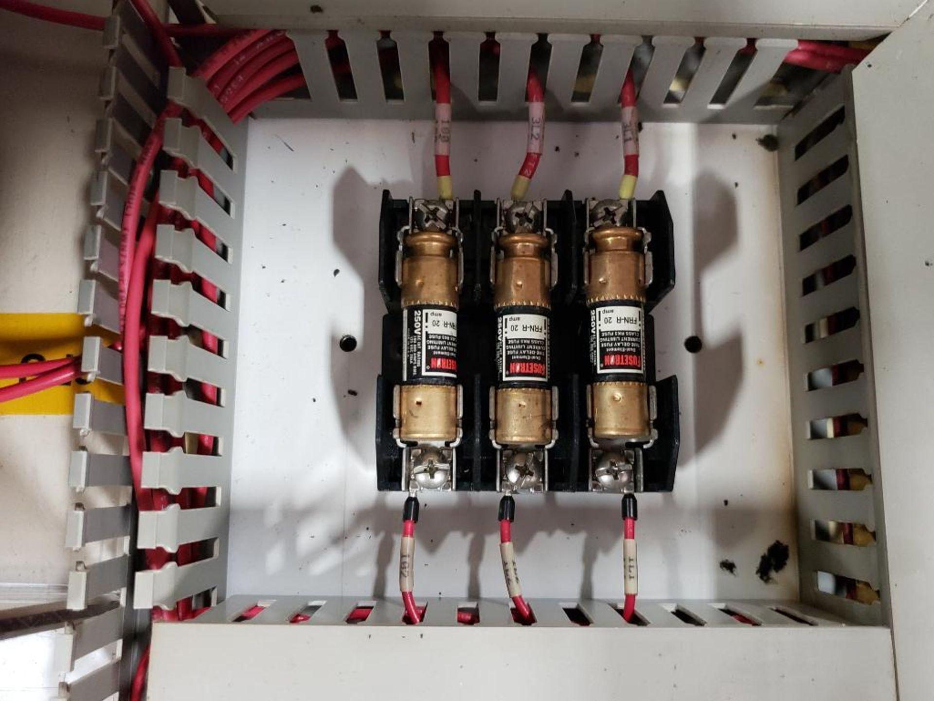 Chiller control cabinet. Hoffman enclosure, Cutler Hammer AF93AG0B007D drive, Allen Bradley drive. - Image 33 of 35