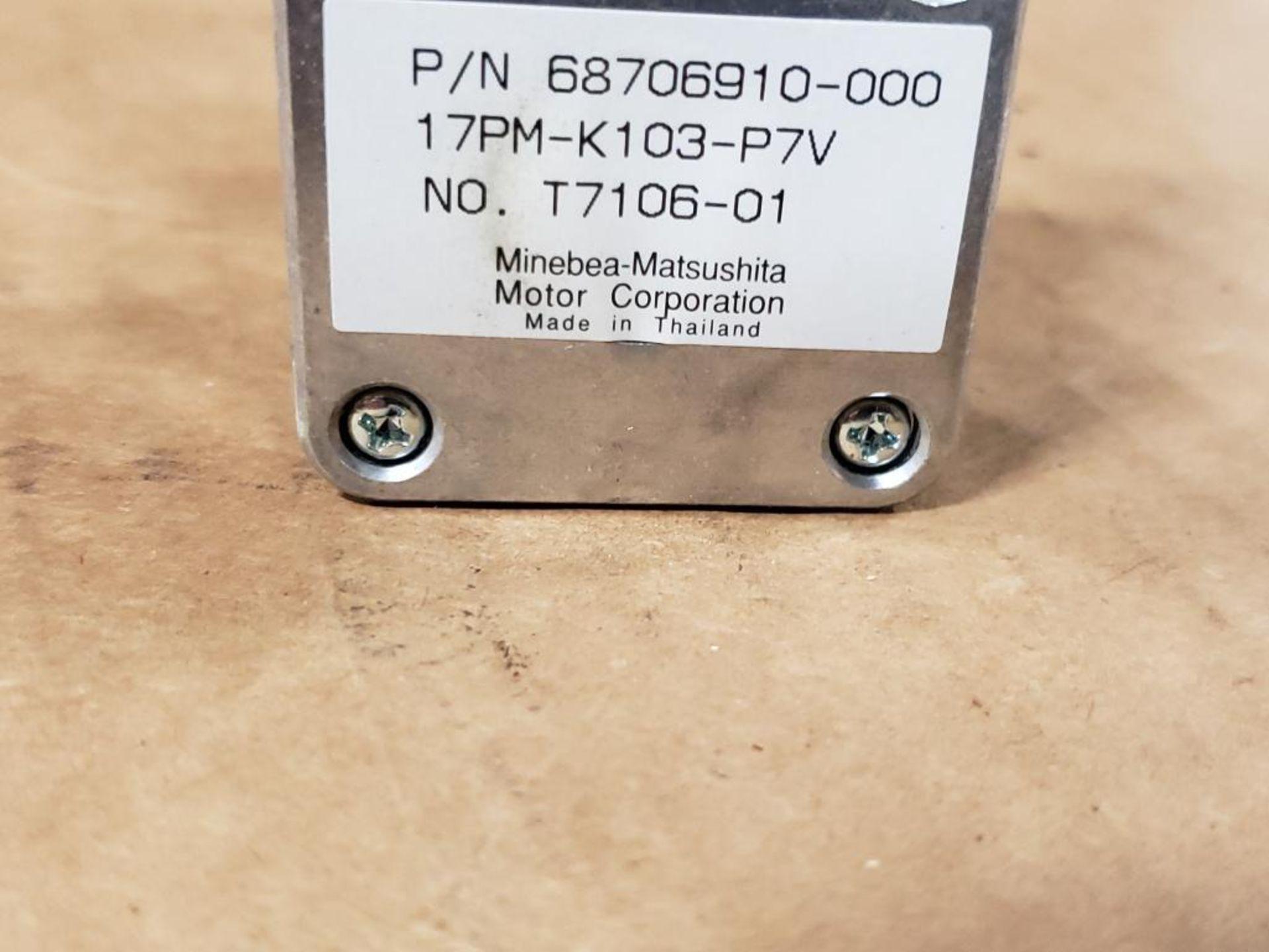 Qty 45 - Minebea-Matsushita Motor Corp 68706910-000 motor. 17PM-K103-P7V, No.-T7106-01. - Image 3 of 6