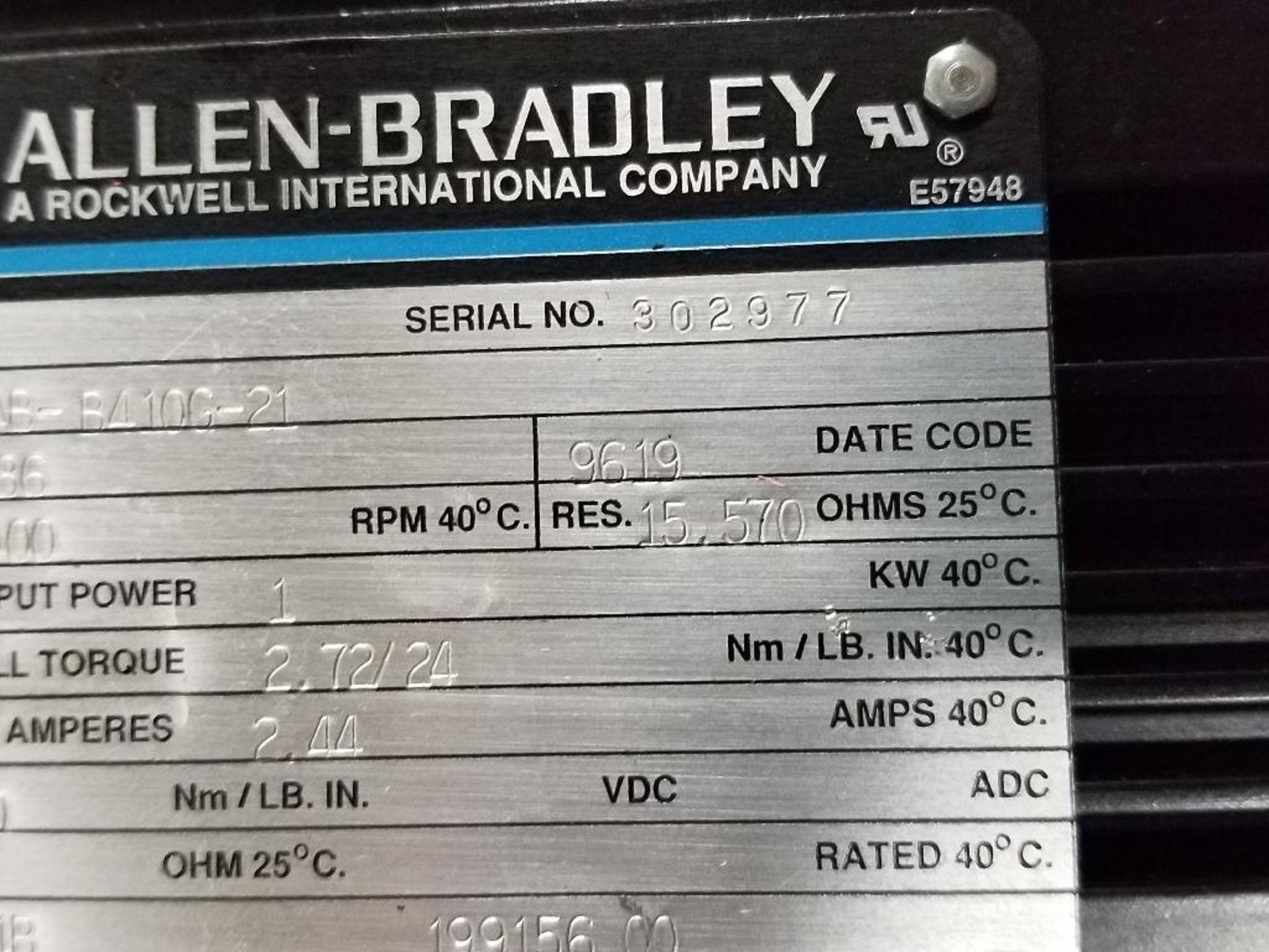 1kW Allen Bradley servo motor. Cat# 1326AB-B410G-21, Part# 155286, 5000RPM. - Image 4 of 6