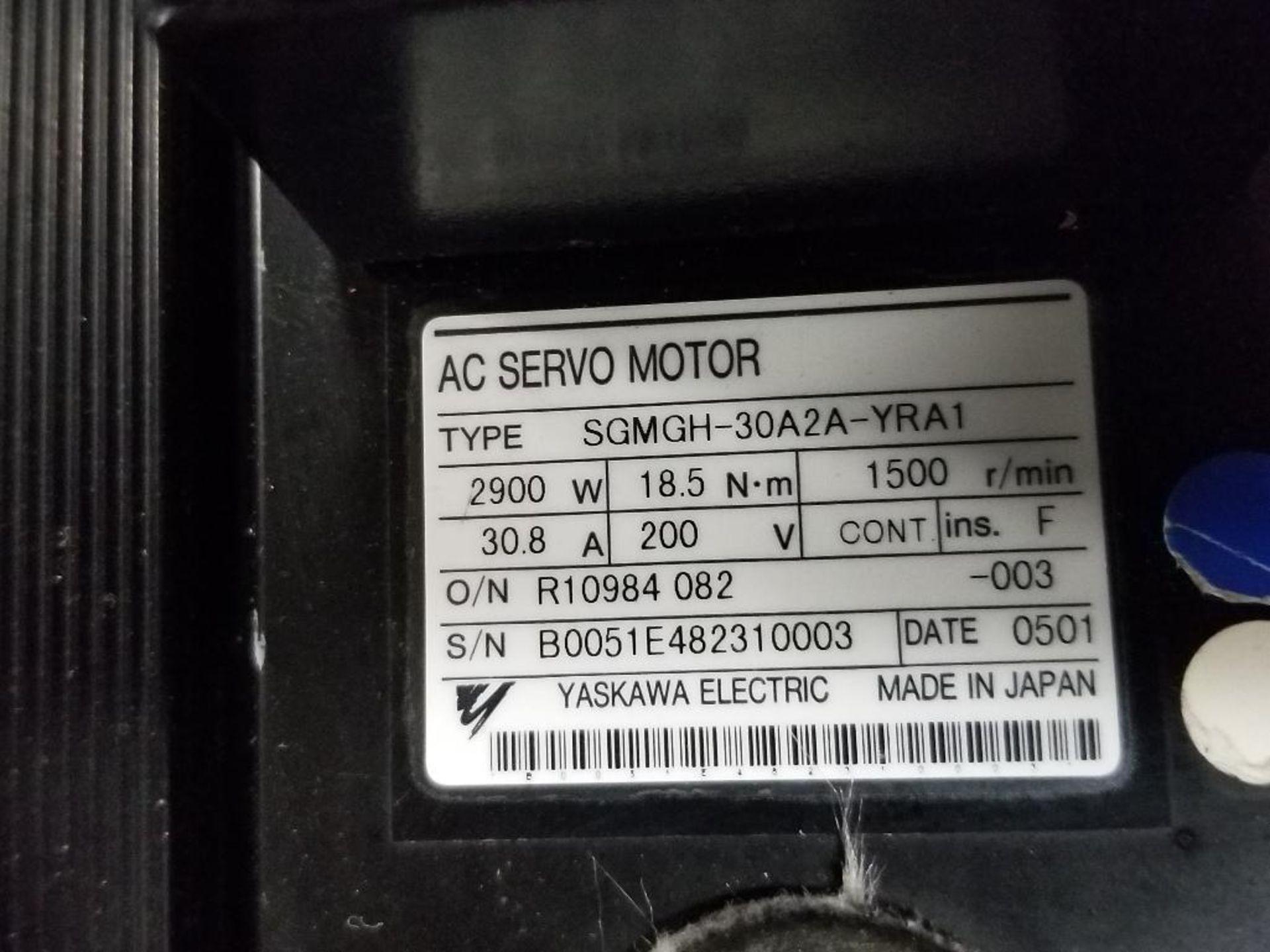 2900W Yaskawa Electric servo motor. SGMGH-30A2A-YRA1. 200V, 1500RM. - Image 3 of 5