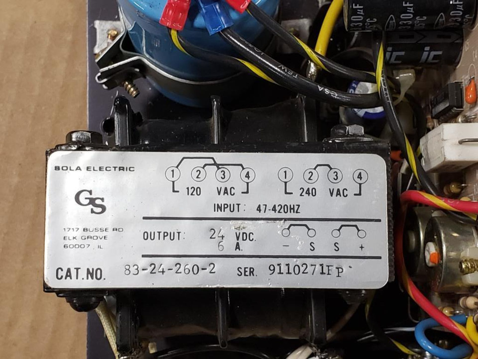 Sola Electric 83-24-260-2 Power supply. - Image 2 of 5