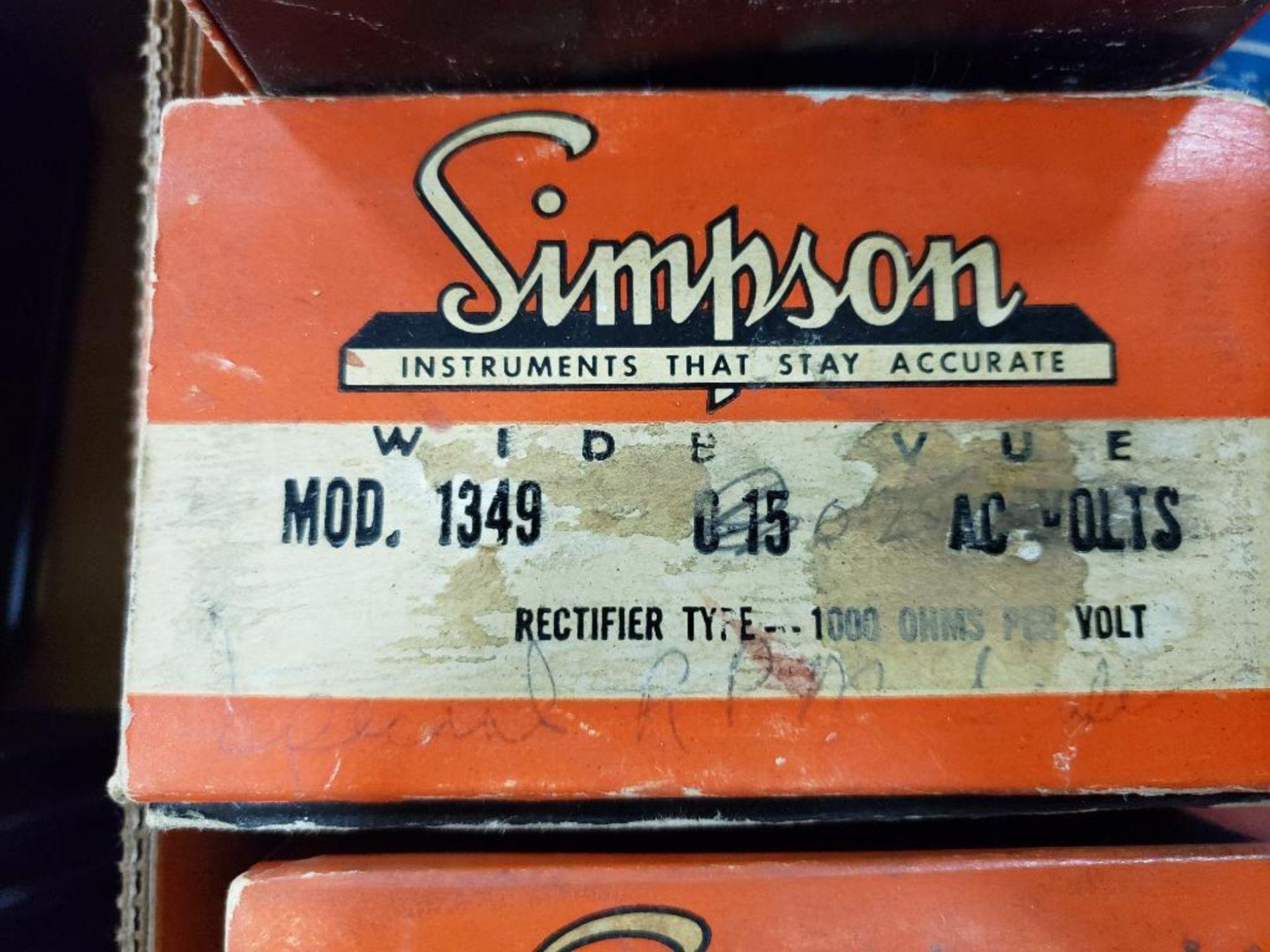 Assorted panel meters. Simpson, Panel Meter. - Image 3 of 12