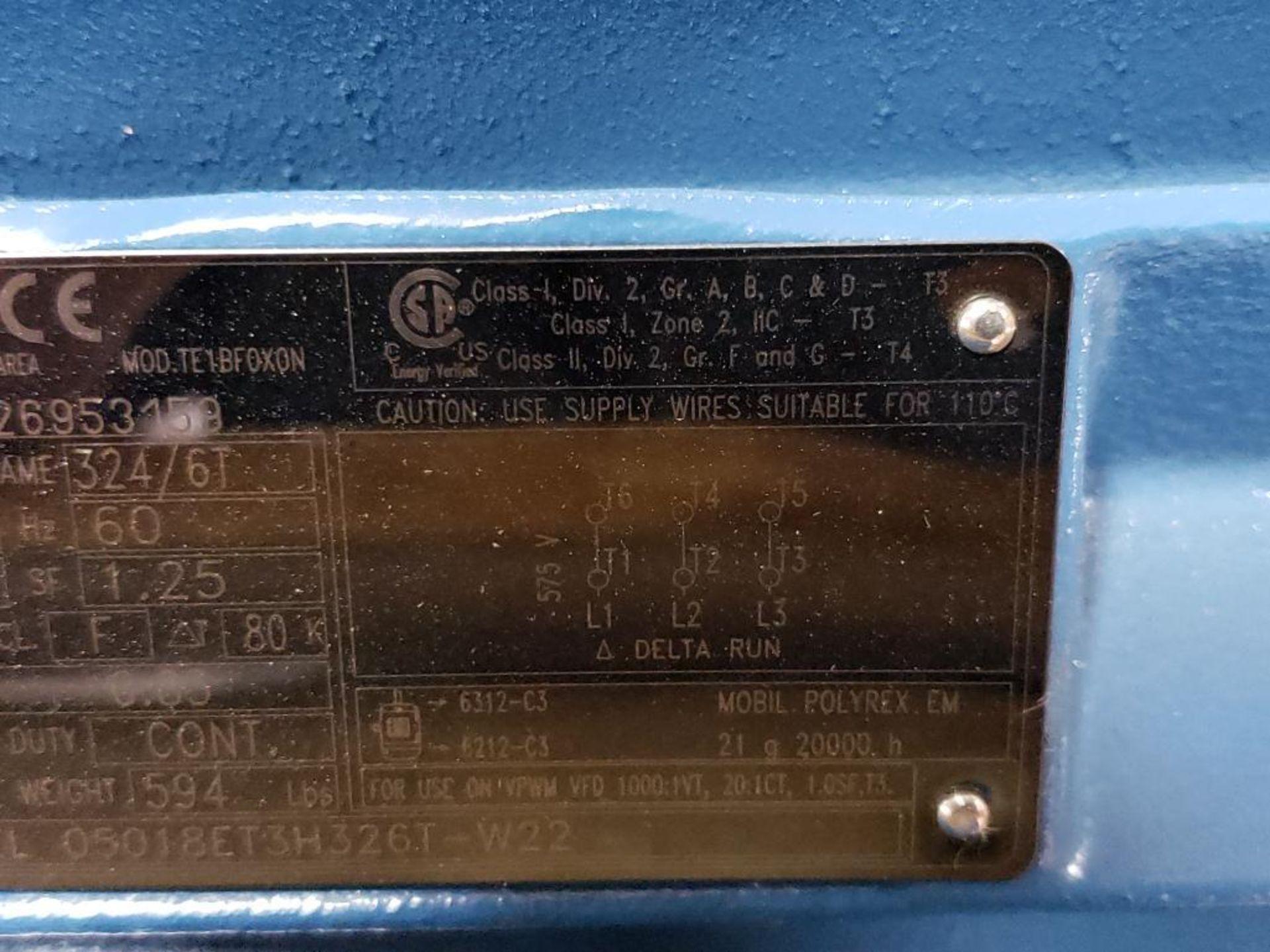 50HP WEG 3PH Inverter Duty Motor. 23ENE2015. 575V, 1775RPM, 324/6T-Frame. - Image 4 of 8