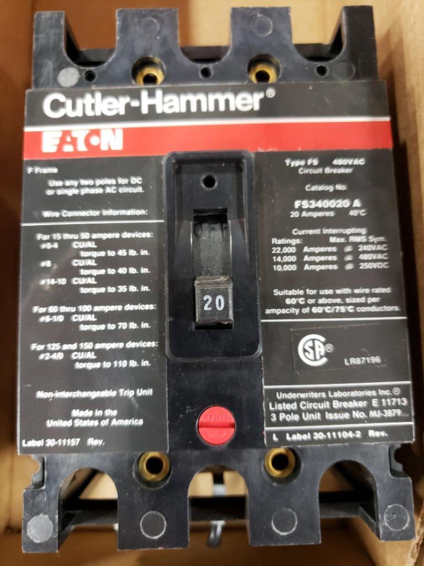 Eaton Cutler Hammer FS340020A Molded case breaker. 20AMP. - Image 2 of 2