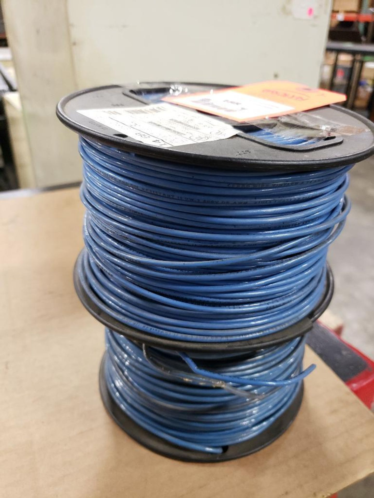 Qty 2 - Spool of Hewlett contractor wire. 14GA-BLUE.