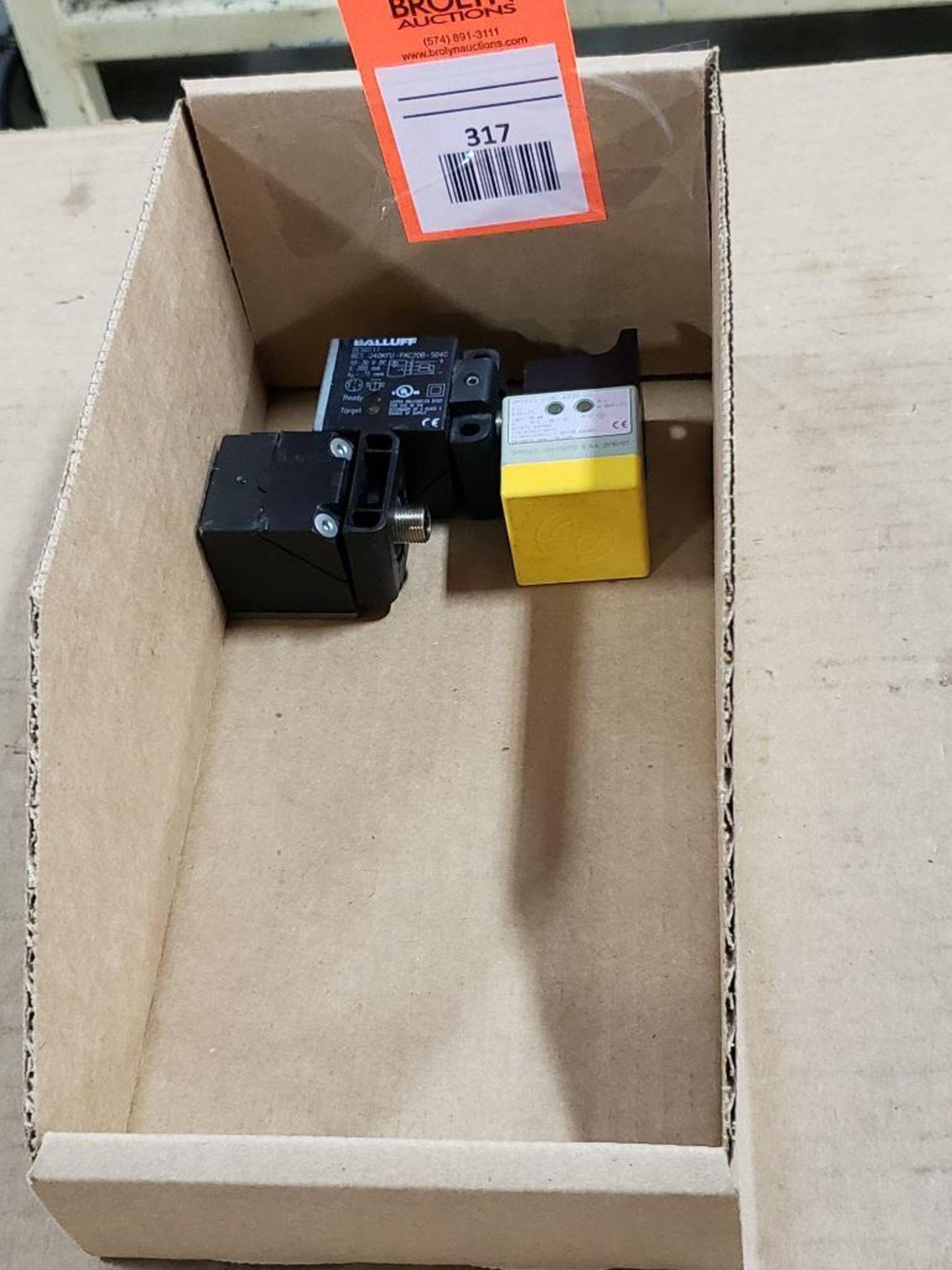 Qty 3 - Assorted electrical sensor. Balluff, IFM.