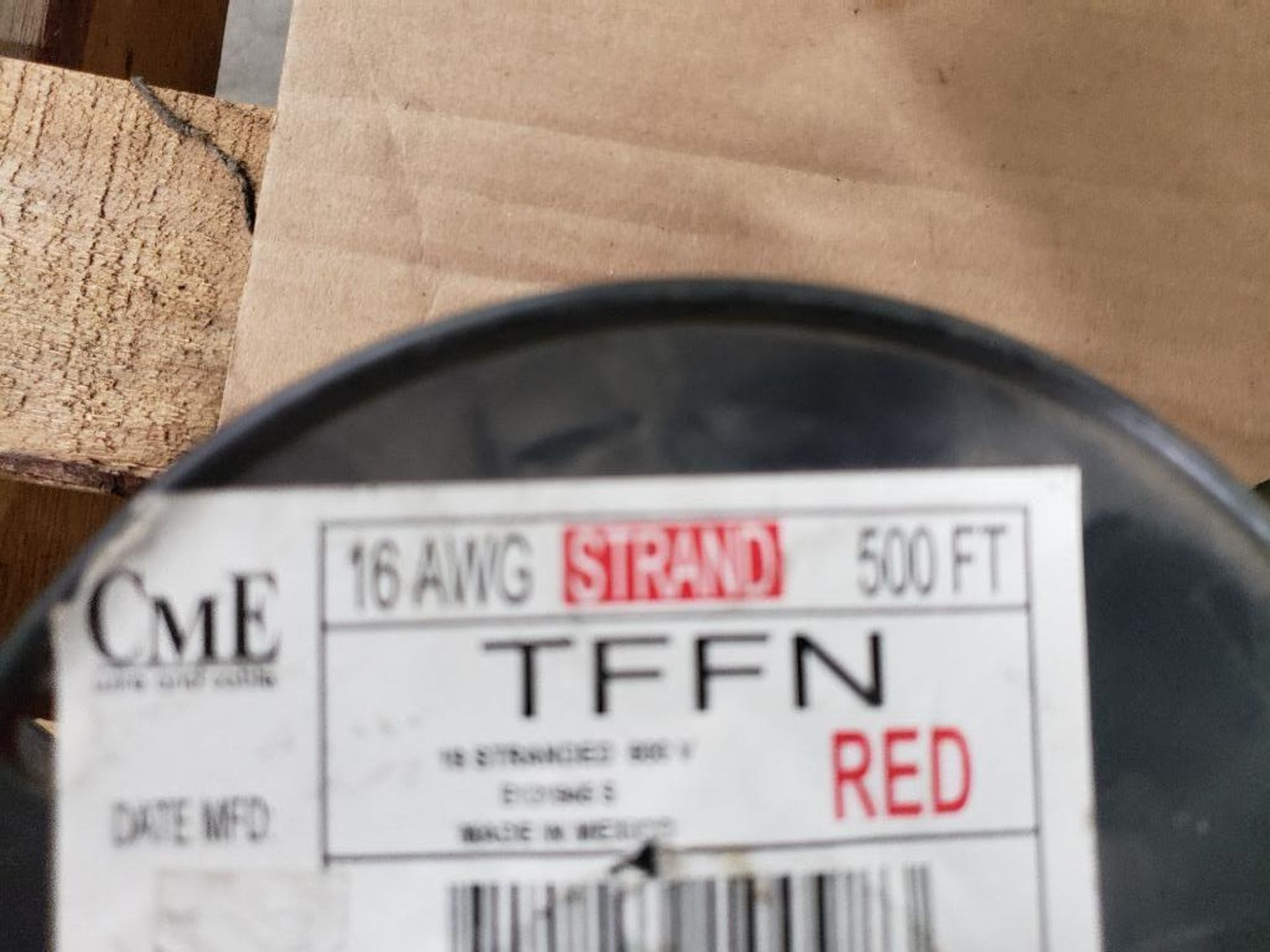 Qty 4 - Spool of CME contractor wire. 16-RED TFFN, 16-WHITE TFFN. - Image 3 of 5