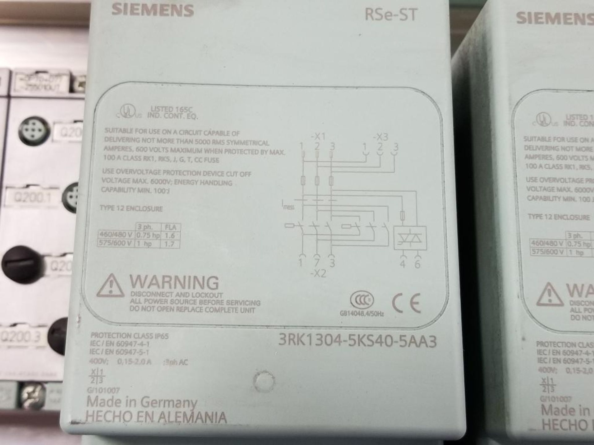 Qty 2 - Siemens RSe-ST 3RK1304-5KS40-5AA3 Reversing starter. - Image 4 of 7