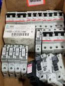 Assorted electrical fuse holder and circuit breaker. Allen Bradley, ABB, Phoenix Contact.