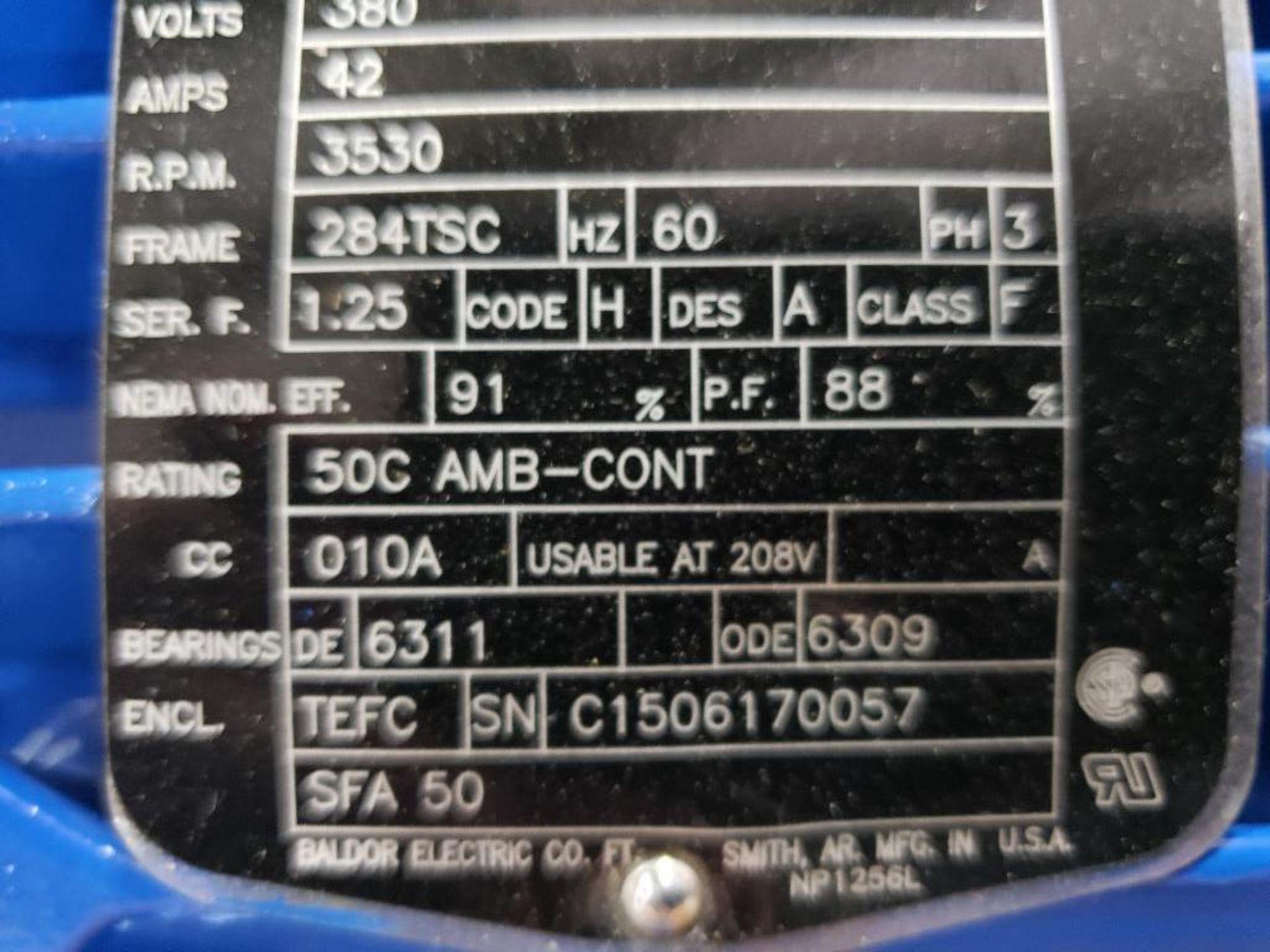 30HP Baldor Reliance 3PH motor. 2013006282. 380V, 3530RPM, 284TSC-Frame. - Image 5 of 8