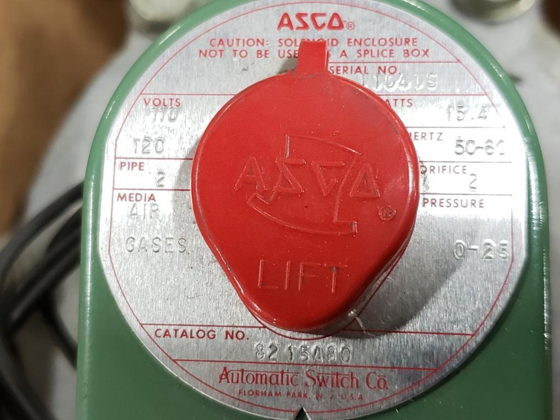Qty 2- Assorted ASCO solenoid with valve body. - Image 7 of 7