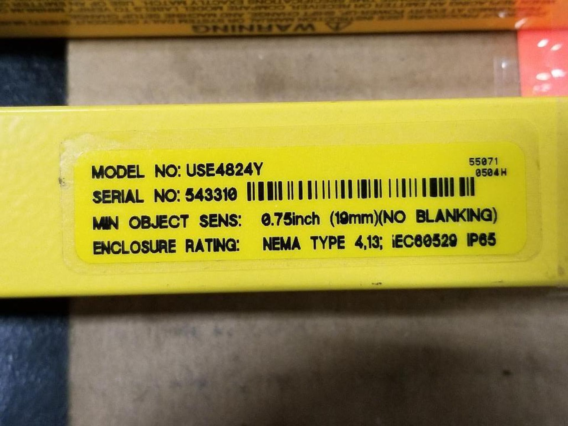 Banner Micro-Screen Light curtain transmitter / receiver set. USR4824Y, USE4824Y. - Image 6 of 6
