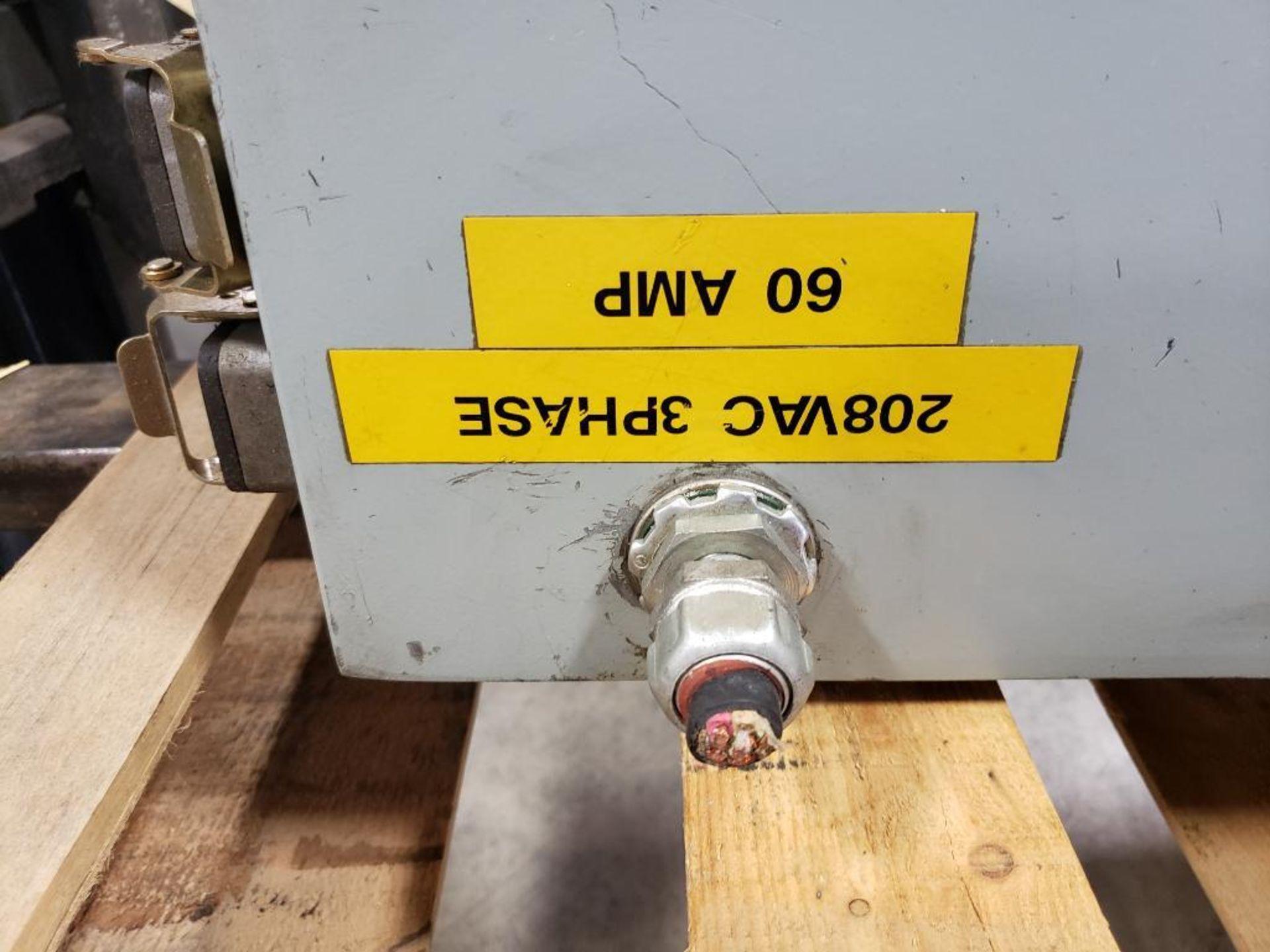 Chiller control cabinet. Hoffman enclosure, Cutler Hammer AF93AG0B007D drive, Allen Bradley drive. - Image 7 of 35