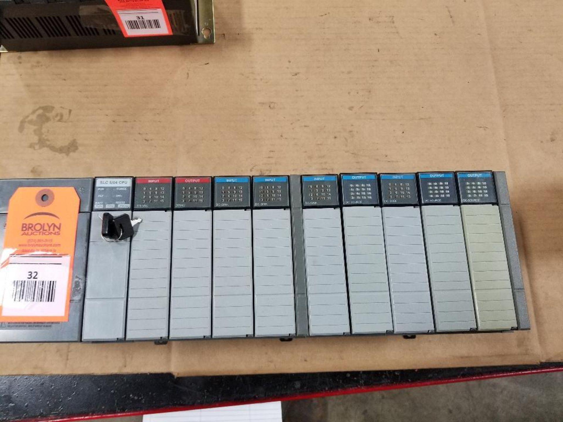 Allen Bradley SLC Rack. SLC 5/04 CPU.