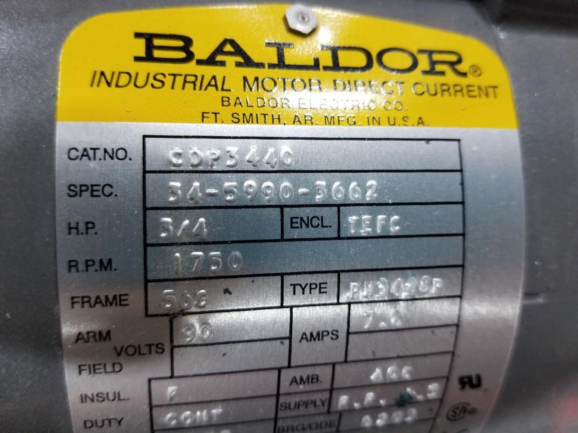 3/4HP Baldor industrial motor COP3440, 34-5990-3662. 1750RPM, 56C-Frame. - Image 2 of 5