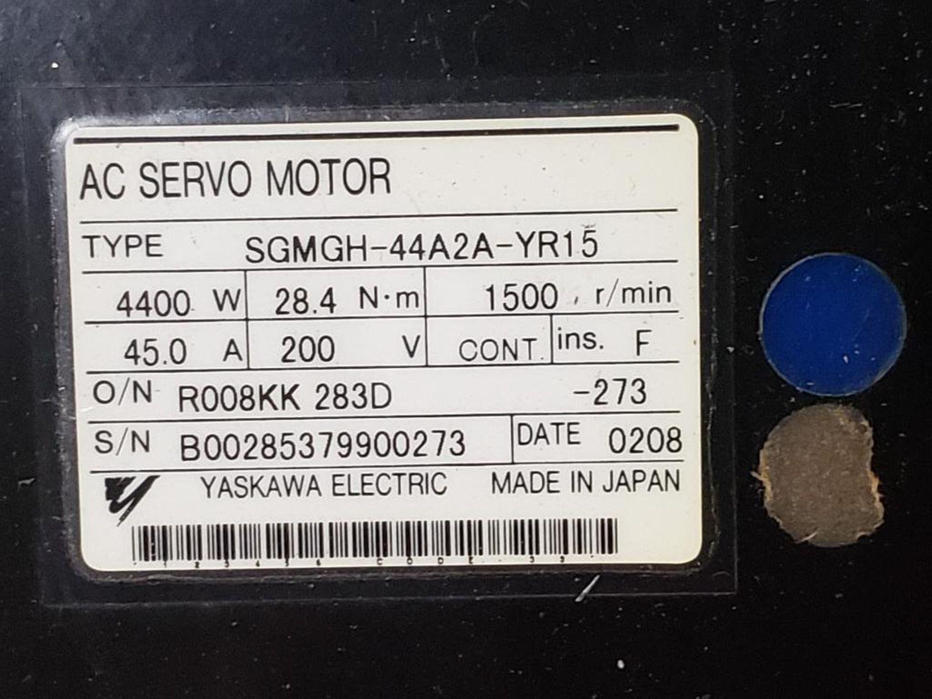 4400W Yaskawa AC Servo Motor SGMGH-44A2A-YR15. 200V, 1500RPM. - Image 4 of 4