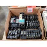 Assorted electrical breakers. Square-D, ITE, Fuji.