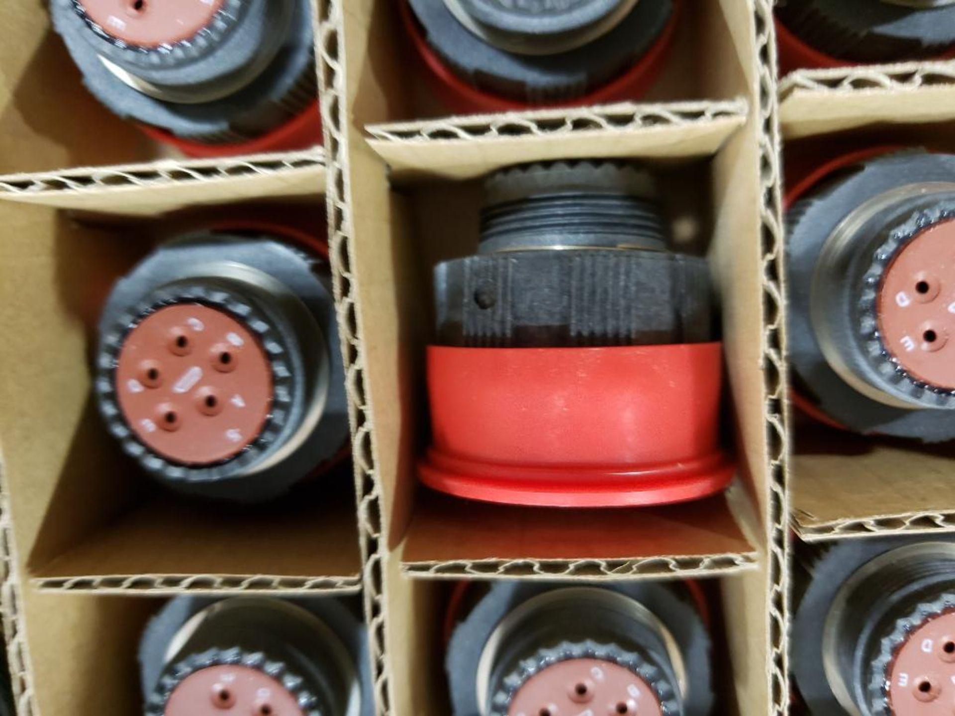 Qty 41 - Amphenol CUA-611554-05P plug connector. - Image 2 of 4