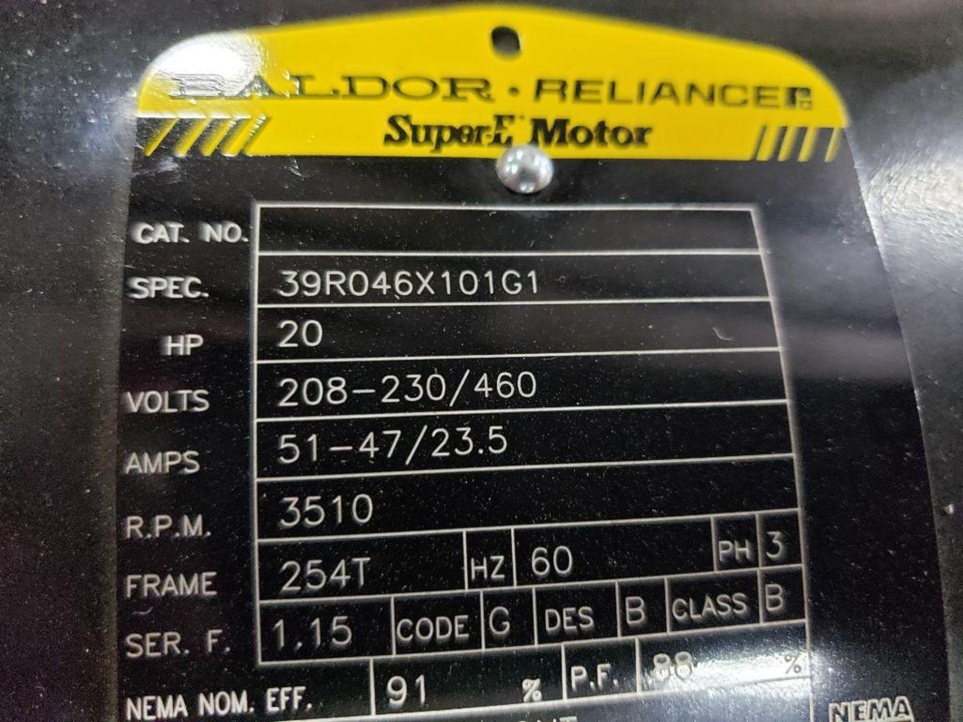 20HP Baldor Reliance 3PH SuperE Motor. 39R046X101G1. 208-230/460V, 3510RPM, 254T-Frame. - Image 4 of 7