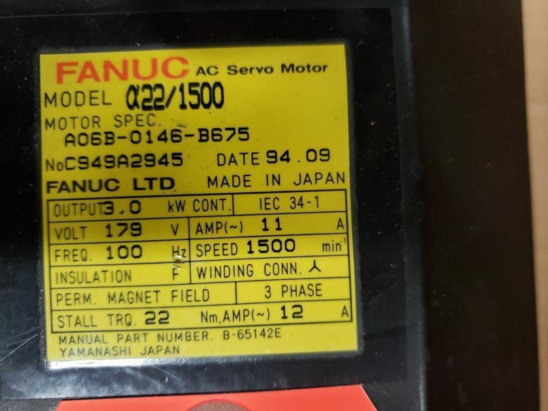 3.0kW GE Fanuc AC Servo Motor A06B-0146-B675. 179V, 1500RPM, 3PH. - Image 2 of 6
