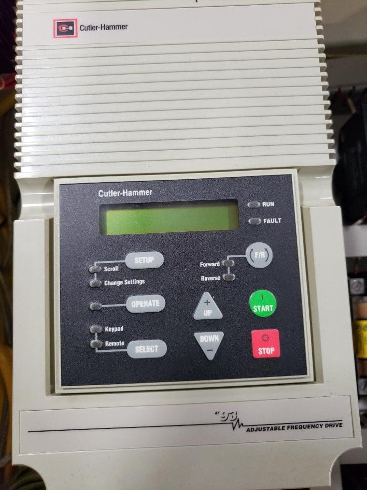Chiller control cabinet. Hoffman enclosure, Cutler Hammer AF93AG0B007D drive, Allen Bradley drive. - Image 17 of 35