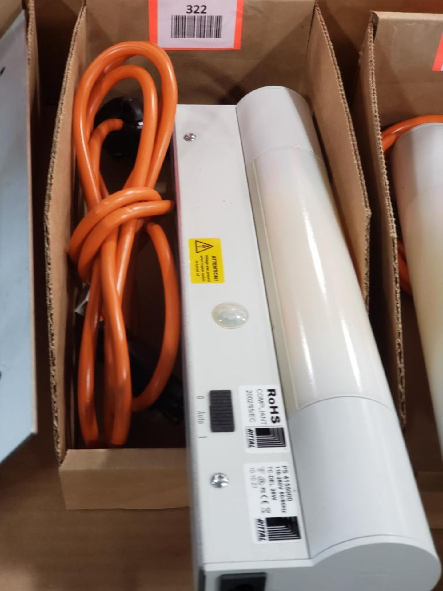 Rittal PS-4155000 Universal cabinet light with motion detector. Cord included.