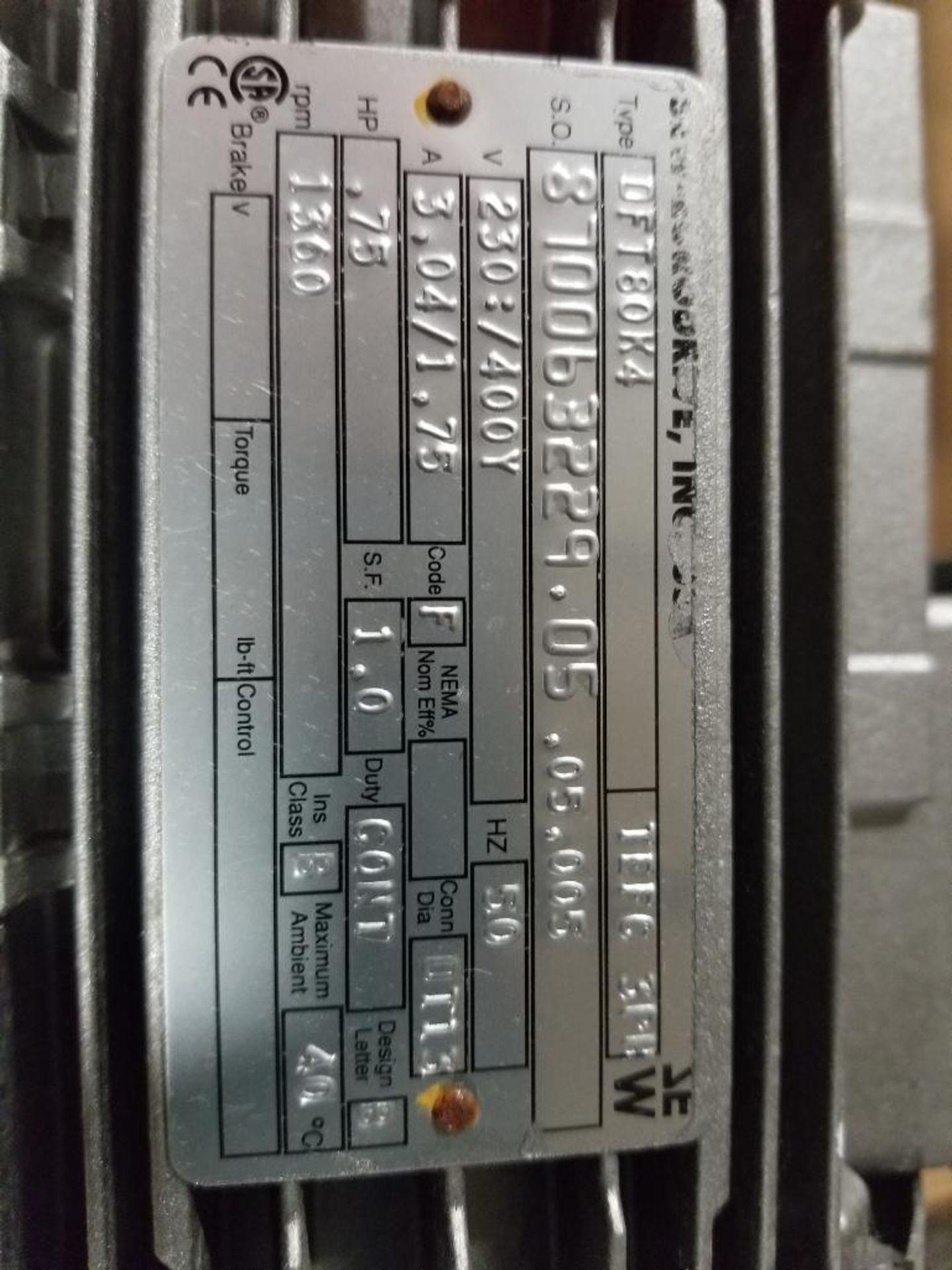 .75HP Sew-Eurodrive DFT80K4 motor. 230/400V, 1360RPM. - Image 2 of 3