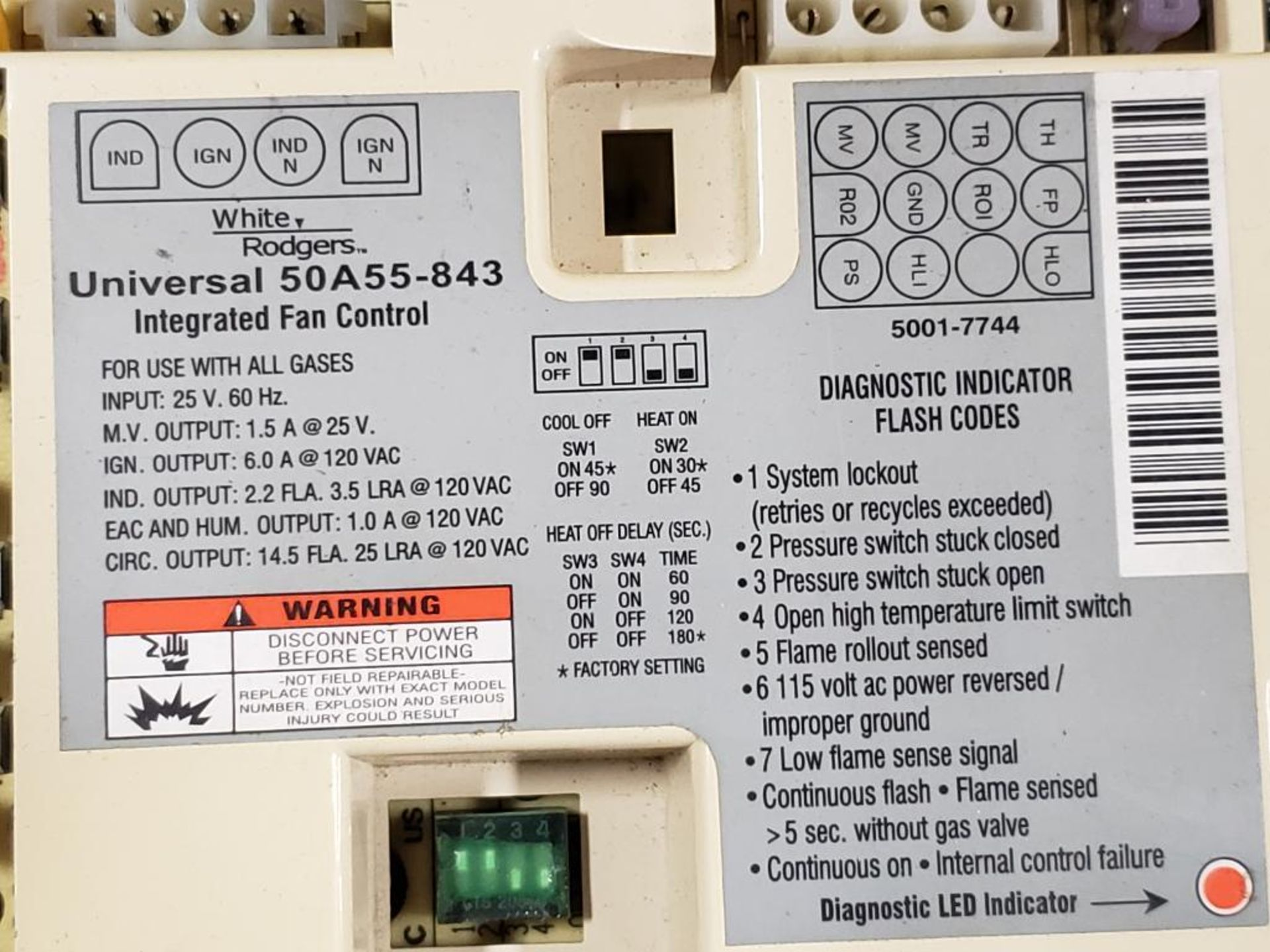Qty 5 - Assorted electrical. Honeywell, White-Rodgers, A-1 Components. - Image 3 of 7