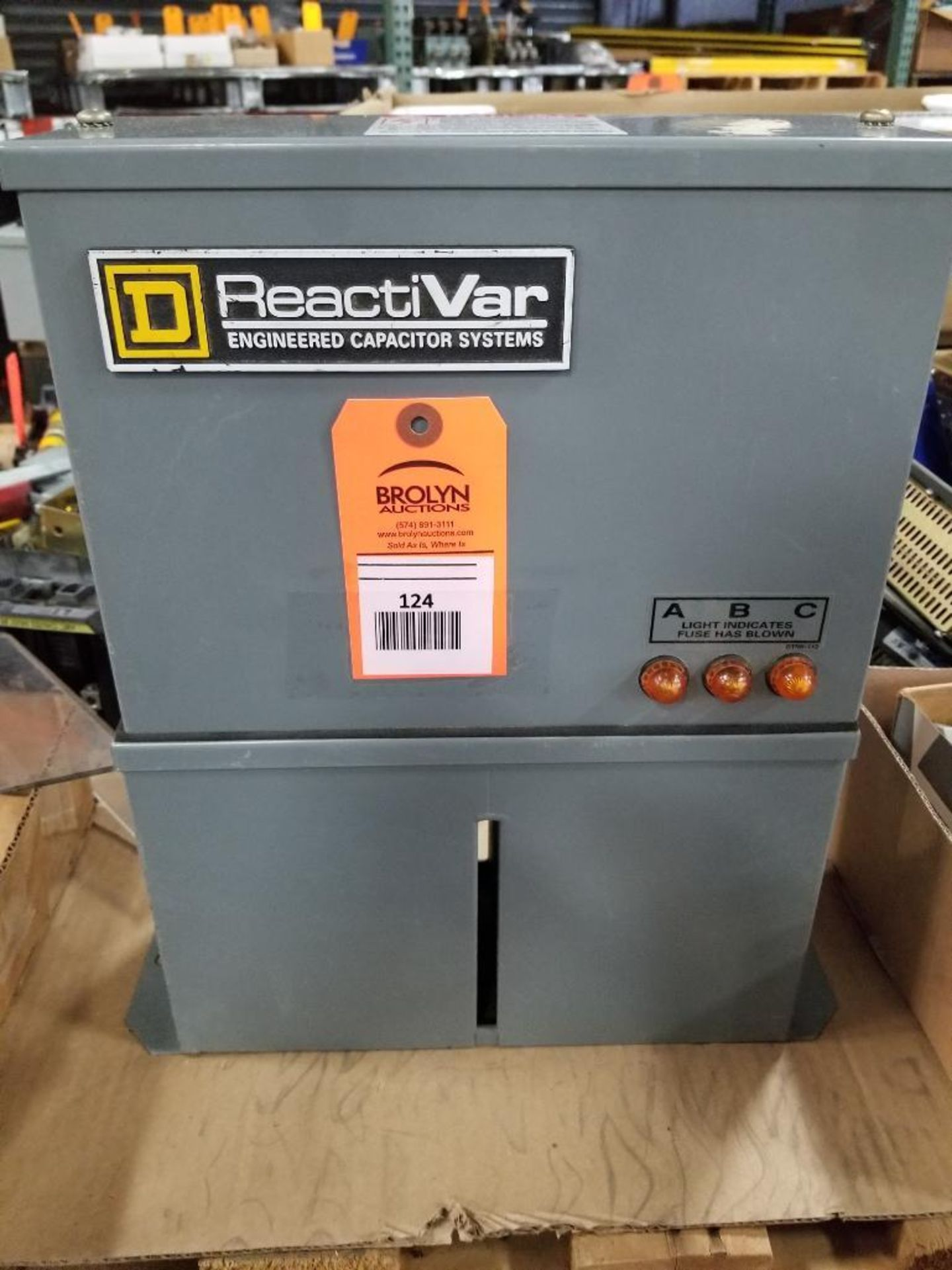 Square-D ReactiVar PFCD4010F 3PH Power factor correction capacitor.