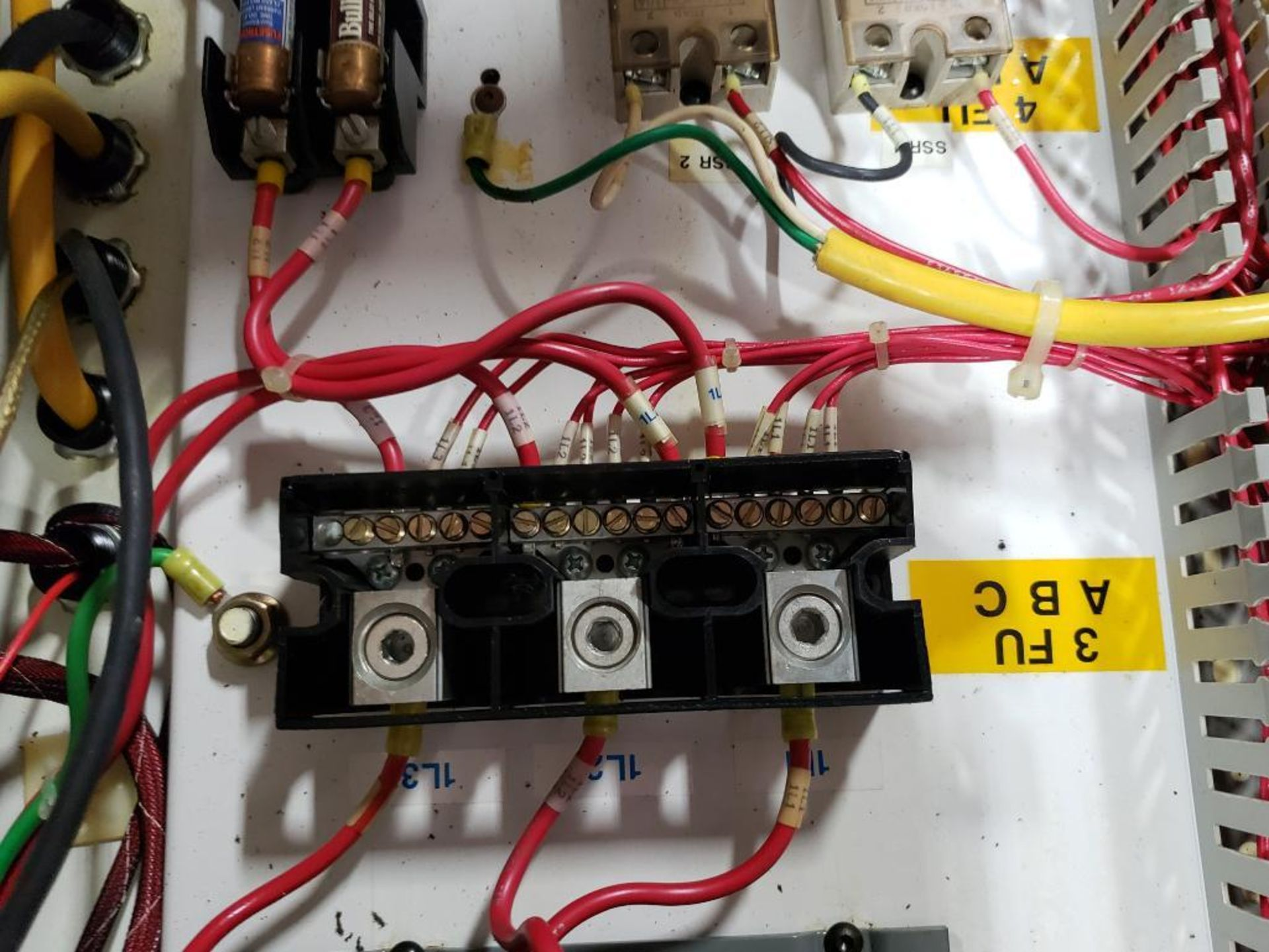 Chiller control cabinet. Hoffman enclosure, Cutler Hammer AF93AG0B007D drive, Allen Bradley drive. - Image 28 of 35